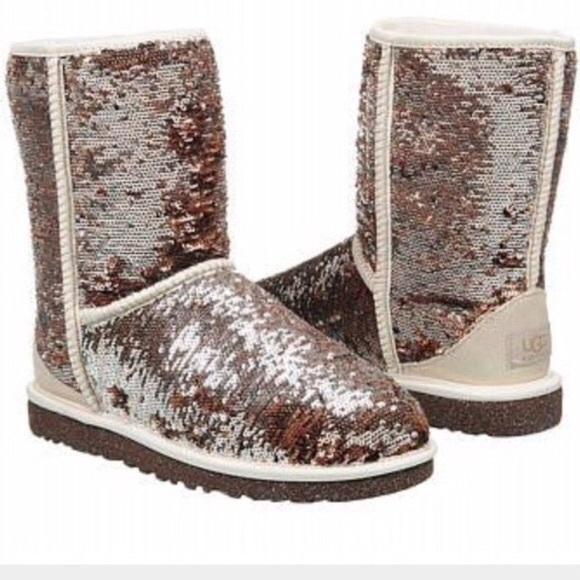 Limited Edition Champagne/Rose Gold Sequin Uggs